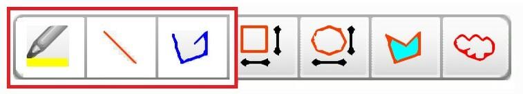 ドキュワークスで線を引く3つの方法